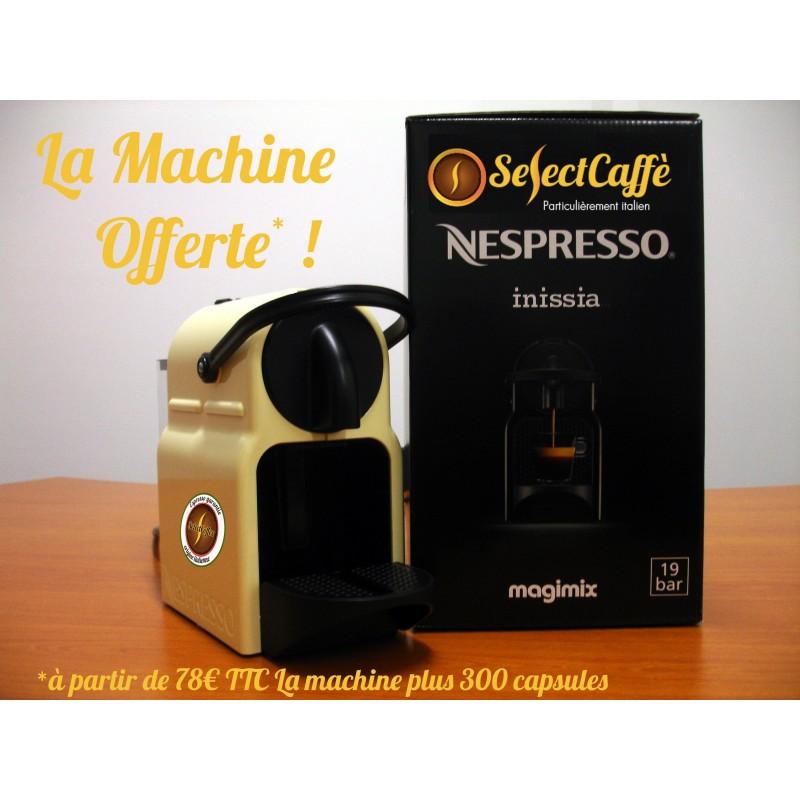 SelectCaffè Vous offre la Machine Nespresso M105* et du Café Italien*