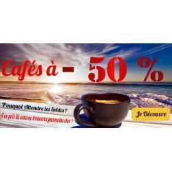 -50% Sur votre café !