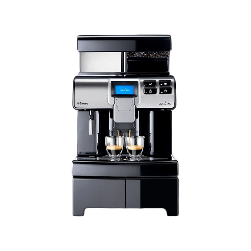 Saeco aulika office noire machine caf grains avec - Machine a cafe avec broyeur integre ...