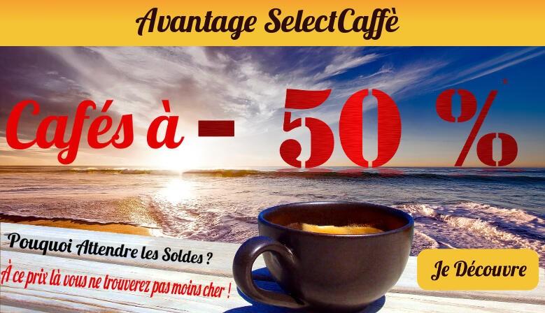 Jusqu'à -50% sur votre café !